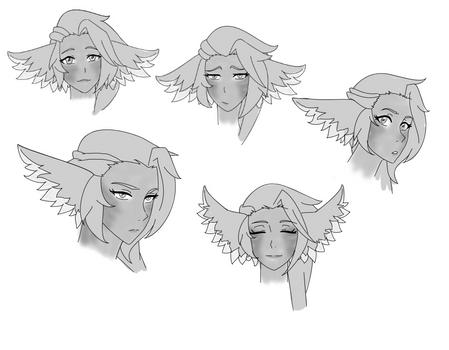 Mauve facial expressions