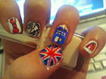 Messy Doctor Who Nail Art