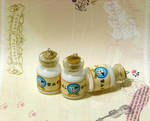 Lon lon milk bottles