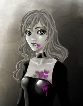 Bleeding purple