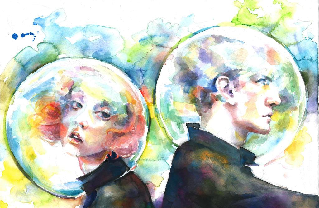 Astronauts by OlgaKalinovskaya