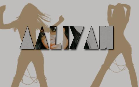 Aaliyah type by ThePinkandTheBlack
