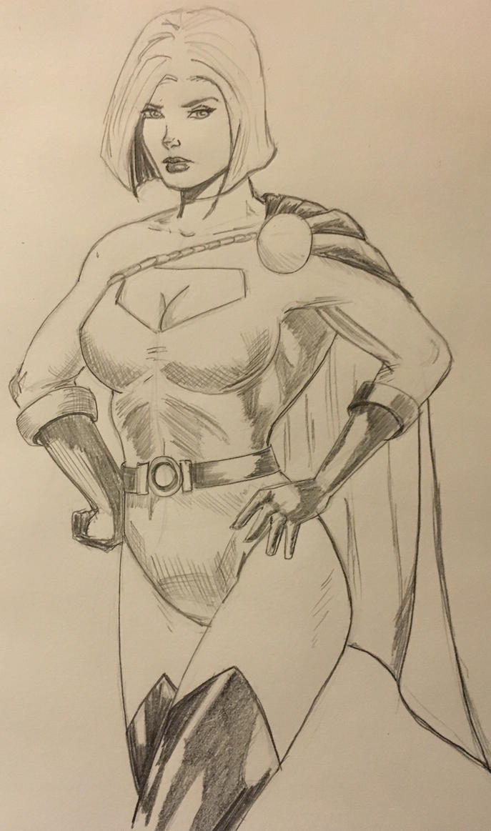 Power Girl sketch by TheRiotRanger