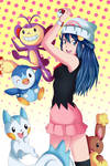 Dawn-Hikari and pokemon