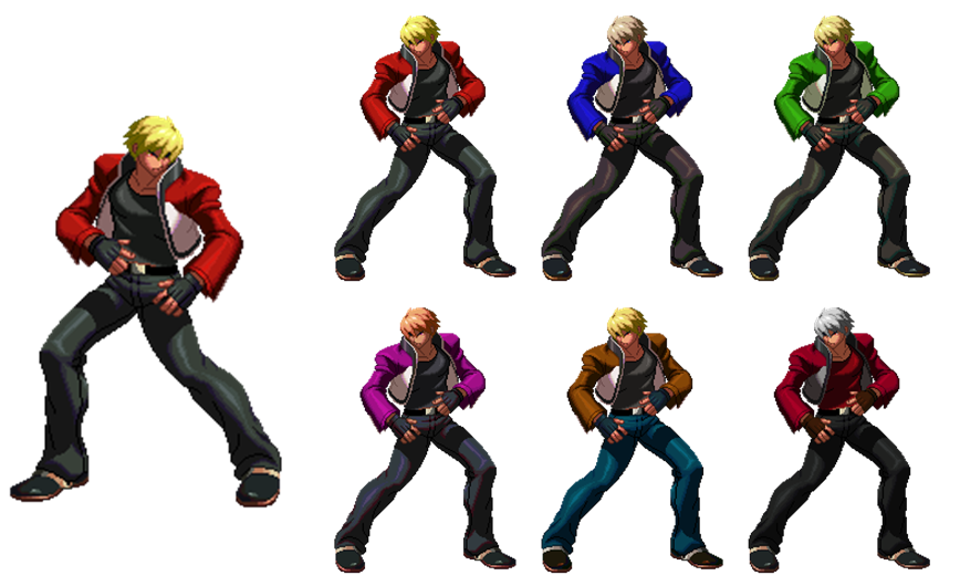 Rock Howard My Made All Palettes By Masterelite997 On Deviantart Wiki sprites models textures sounds login. rock howard my made all palettes by
