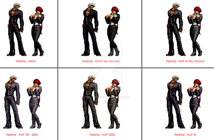KOF K' Palletes for Shermie edited by me by masterelite997
