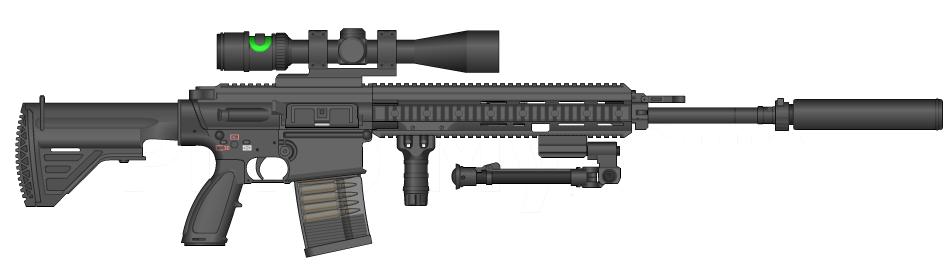 Resultado de imagen para Heckler & Koch HK417 sniper