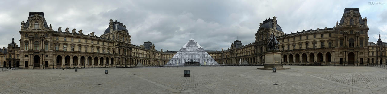 Louvre museum panoramic by EUtouring