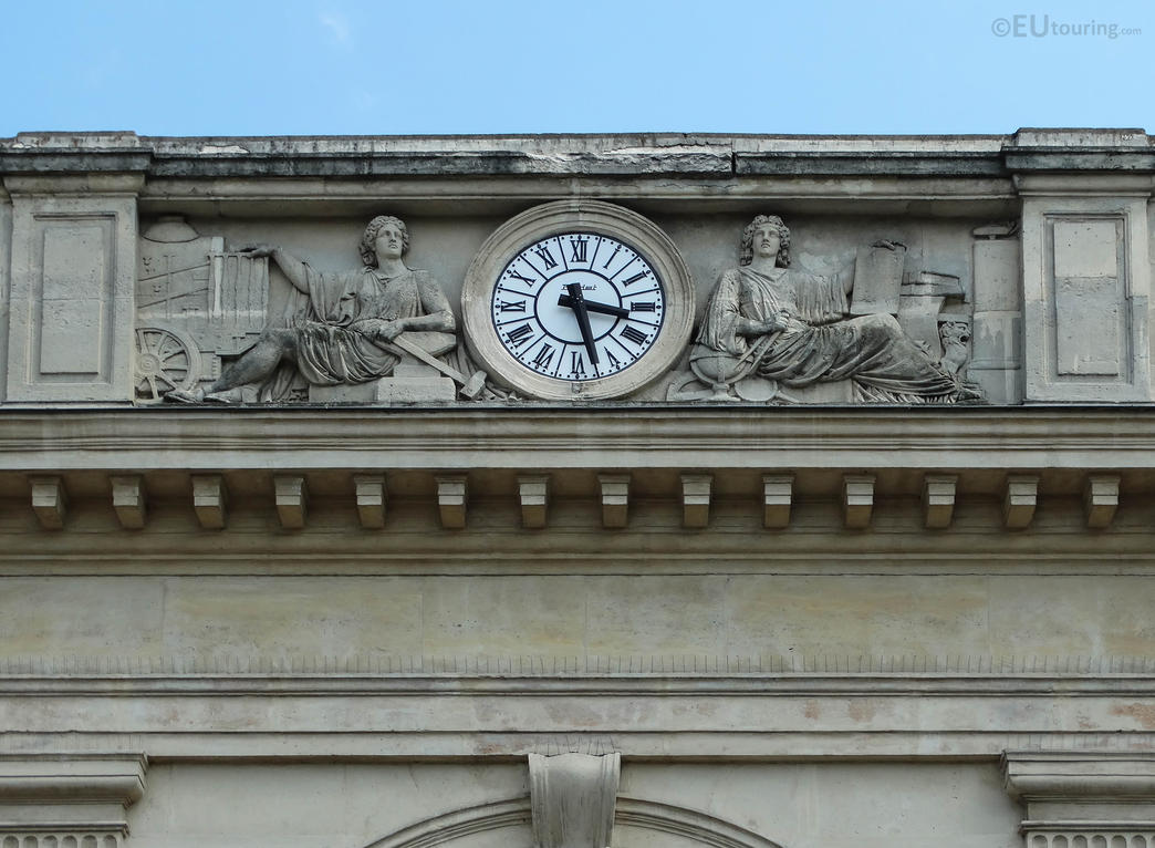 The detailed clock on Paris' oldest railway statio by EUtouring