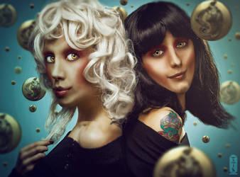 Gemini Sisters by kimoz