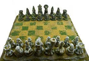 Jungle Garden Chess Set by Goomba-2007