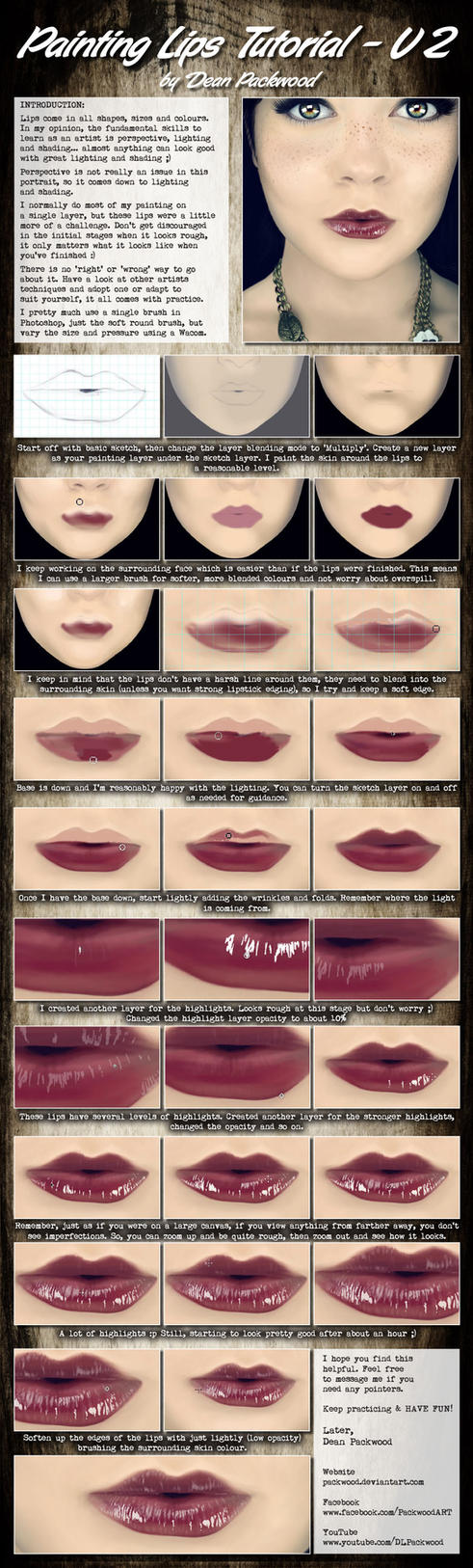 Lips Tutorial - V2 by Packwood