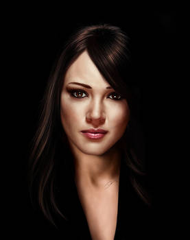 Hilary Duff Painting
