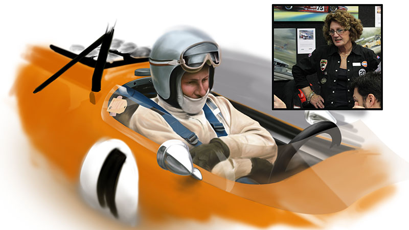 Bruce McLaren Work in Progress by Packwood