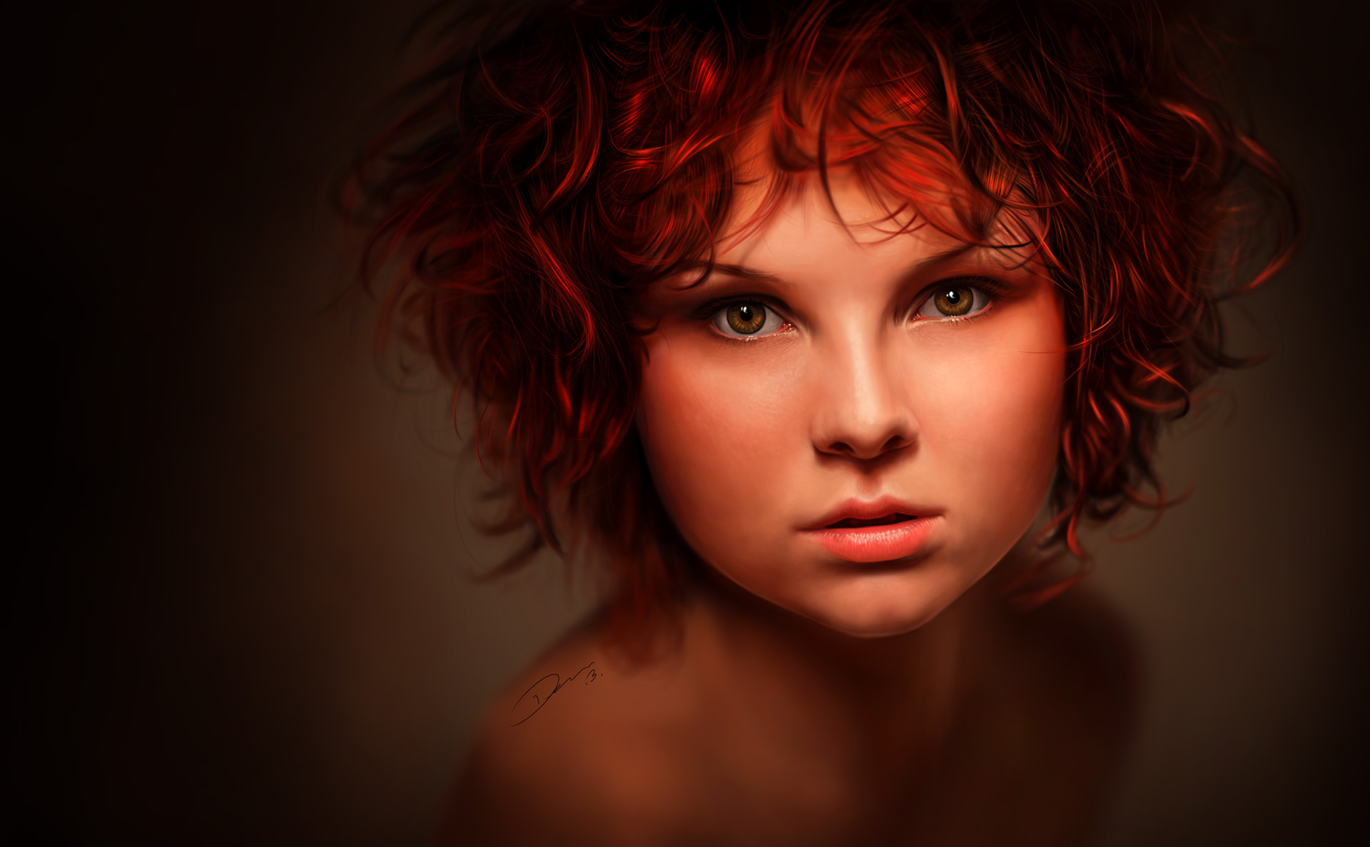 Redhead - Digital Painting by Packwood