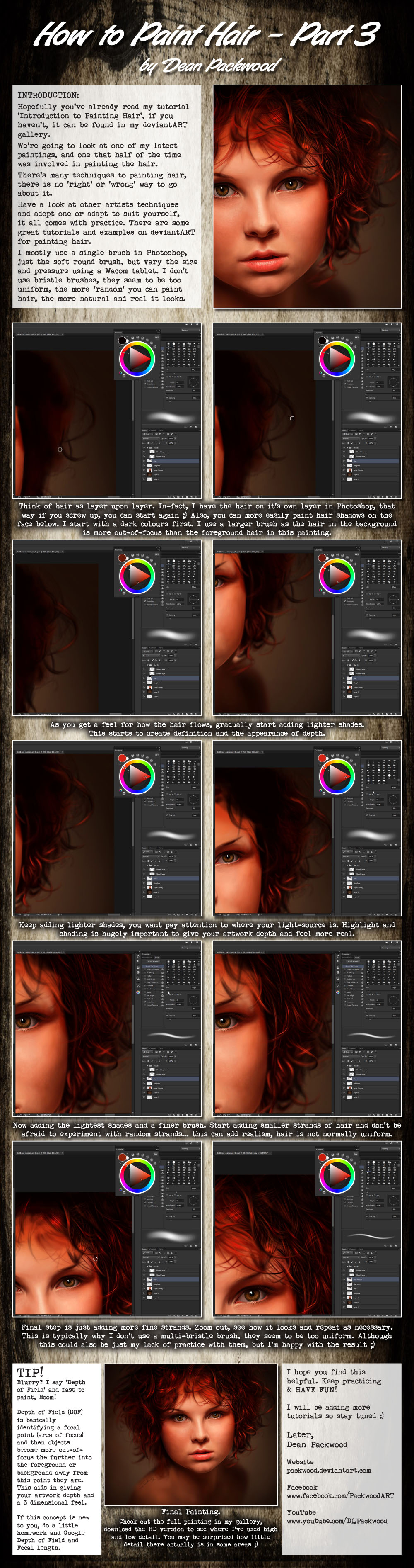 Painting Hair - Part 3 by Packwood