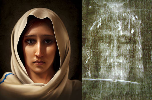 Mary, Mother of Jesus - Digital Painting