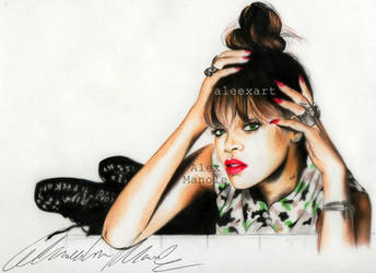 Rihanna - Talk that talk by aleexart