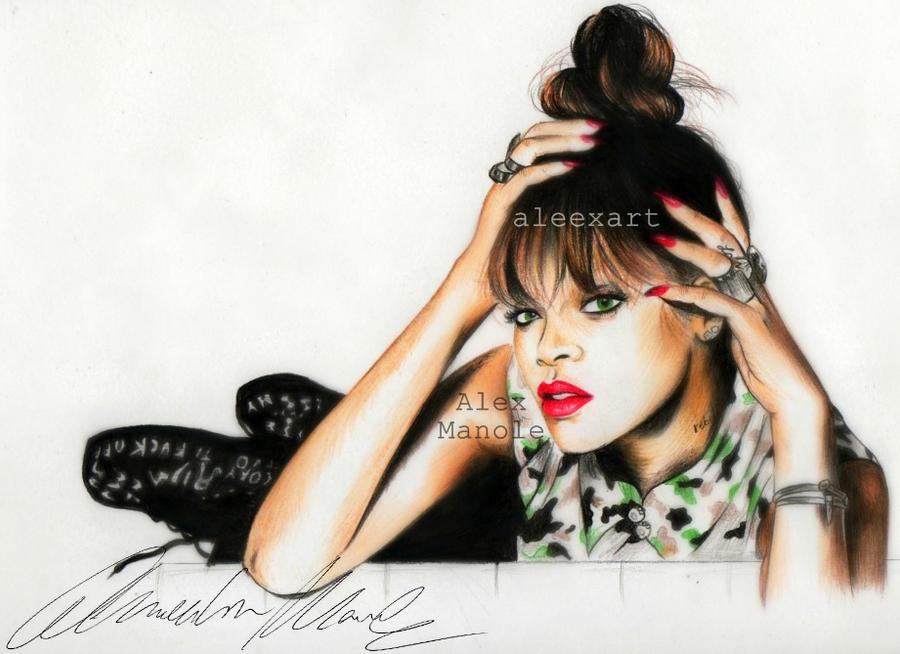 Rihanna - Talk that talk by aleexart