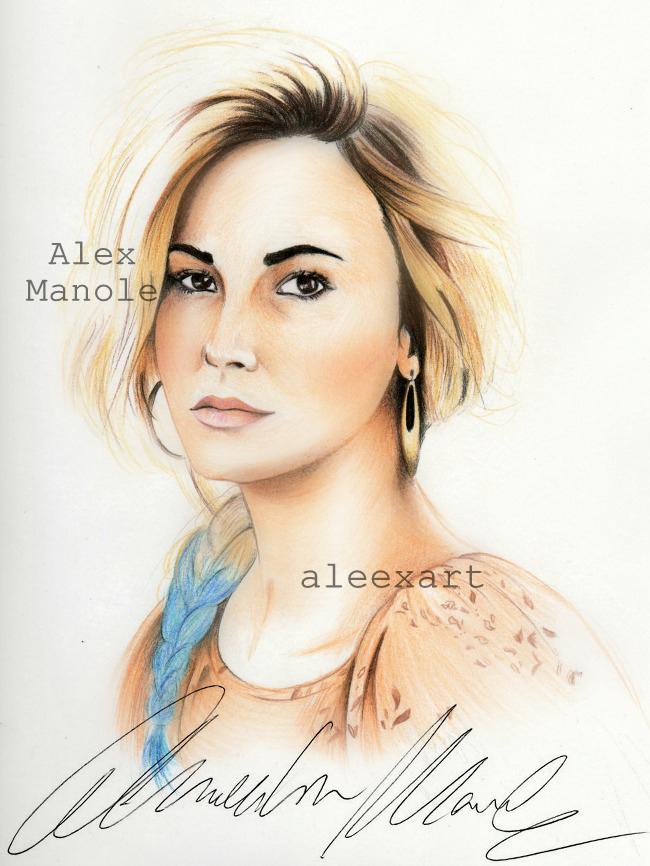 Demi Lovato (teen vogue) by aleexart