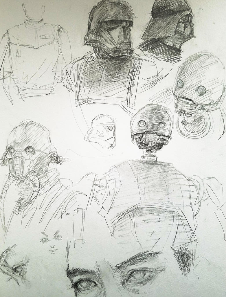 Rogue One sketches by onepieceninja