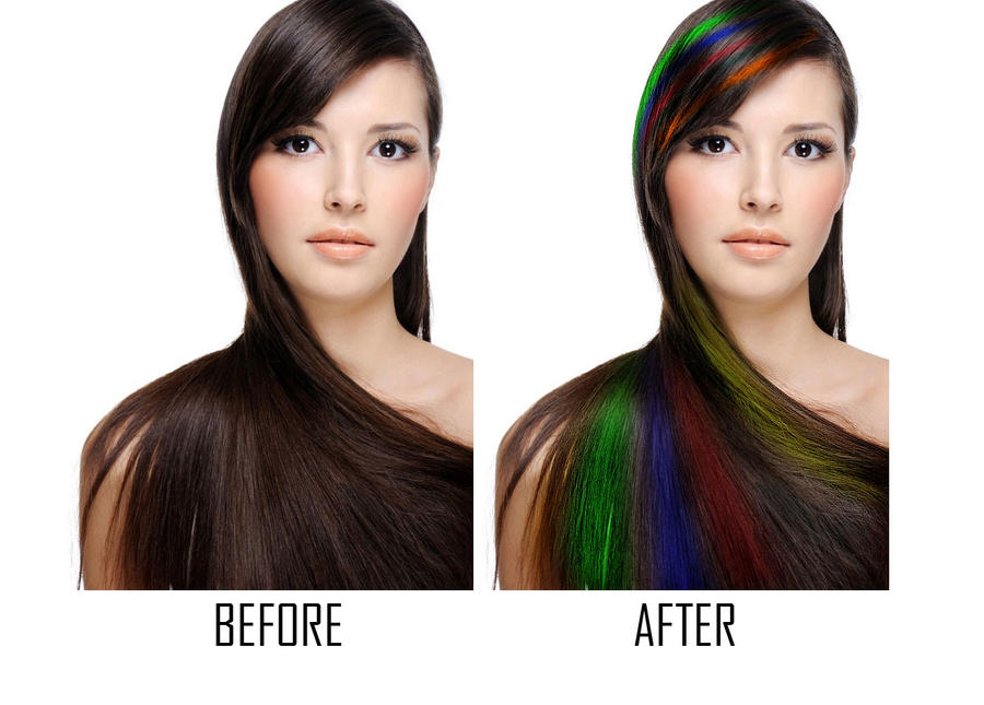 Как сделать натуральный цвет волос в фотошопе