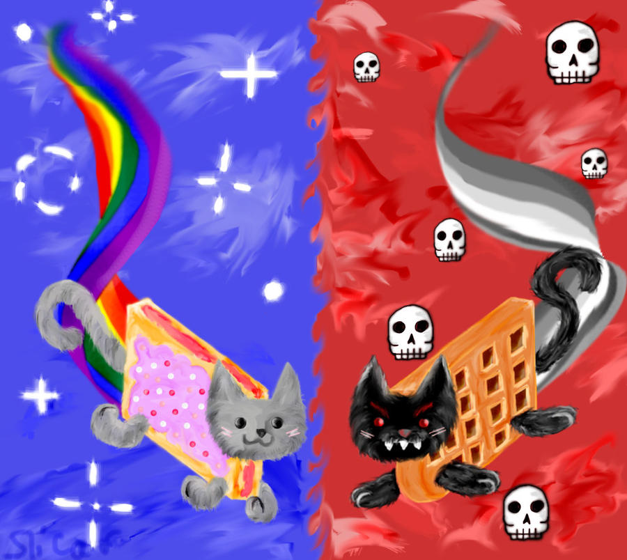 Nyan Cat And Waffle Cat Nyan Cat And Tacnayn by Slicar