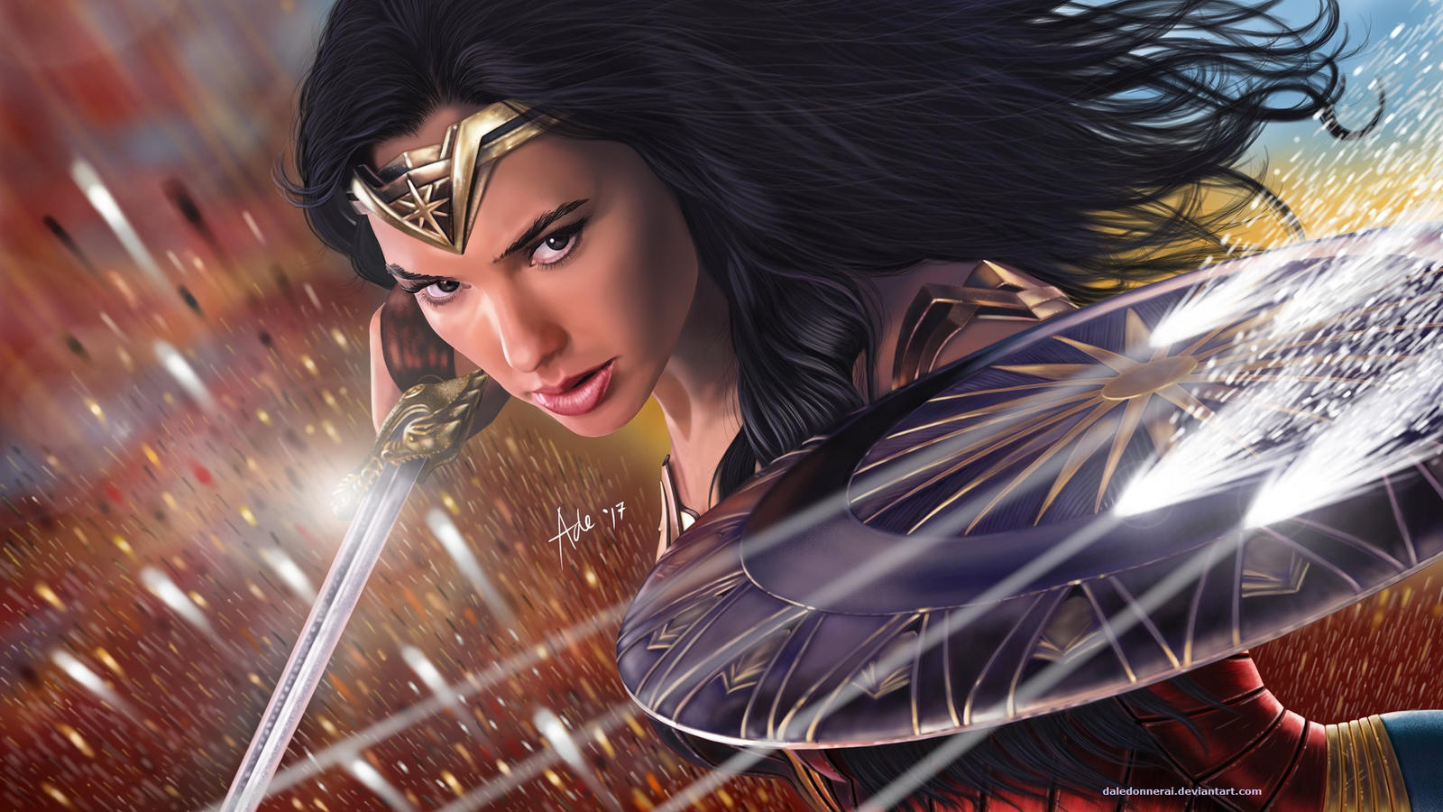 Wonder Woman 2017 Desktop Wallpaper: Wonder Woman (Desktop Wallpaper For Fans @ 1080p) By