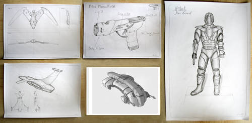 Concept Drawings I by Andr-Sar