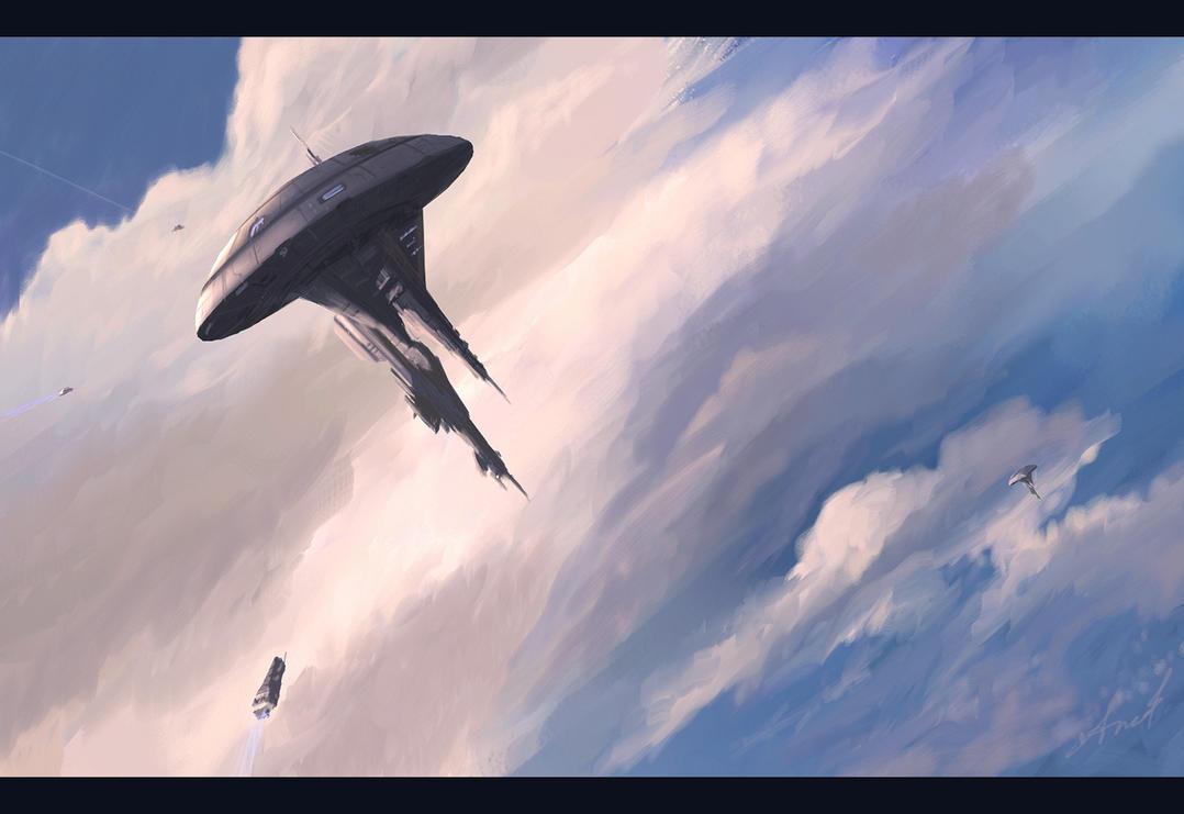 SpeedPaint - Hidden In Clouds by Andr-Sar