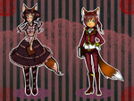ADOPT Auction: Steampunk Twins GIRL LEFT