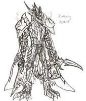 Deathwing -Lineart- by Raptor-Onii