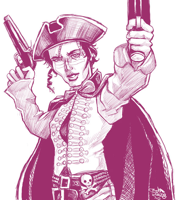 how to draw a highwayman