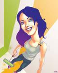 Drawn Faces: Rachel