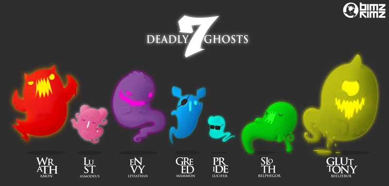 Deadly Seven Ghosts by bimzkimz