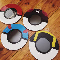 Finals and a WIP: Pokemon Ball Photo Frames
