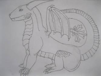 drerika's dragon Oreon by theguynobodyknows