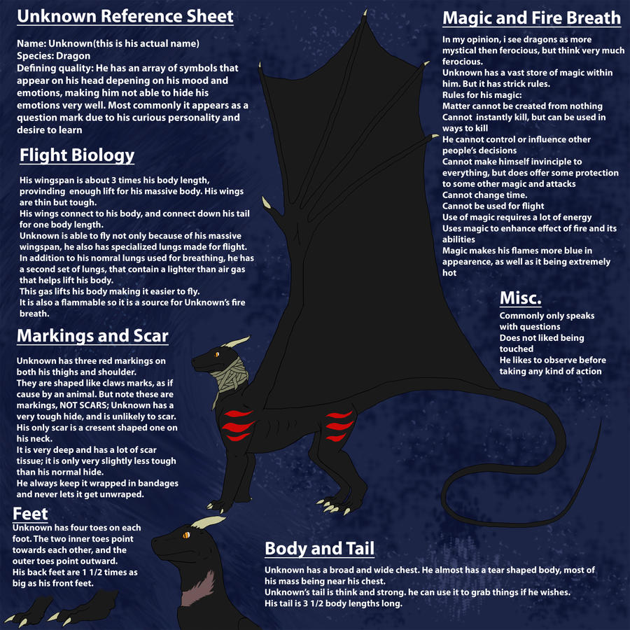 Unknown Reference Sheet by theguynobodyknows