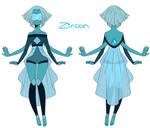 Zircon (Peridot and Lapis Fan Fusion)
