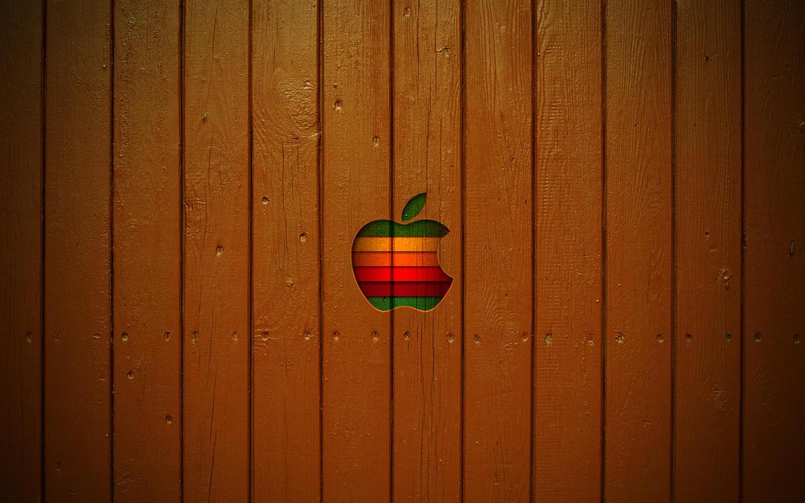 Mac Wooden Style Wallpaper by ulrikstoch