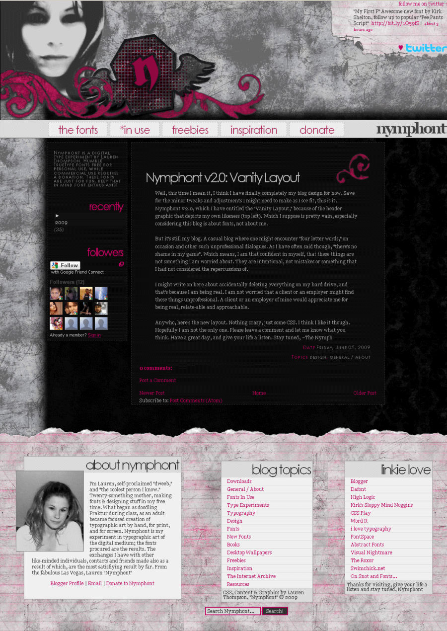Nymphont Blog Layout by nymphont