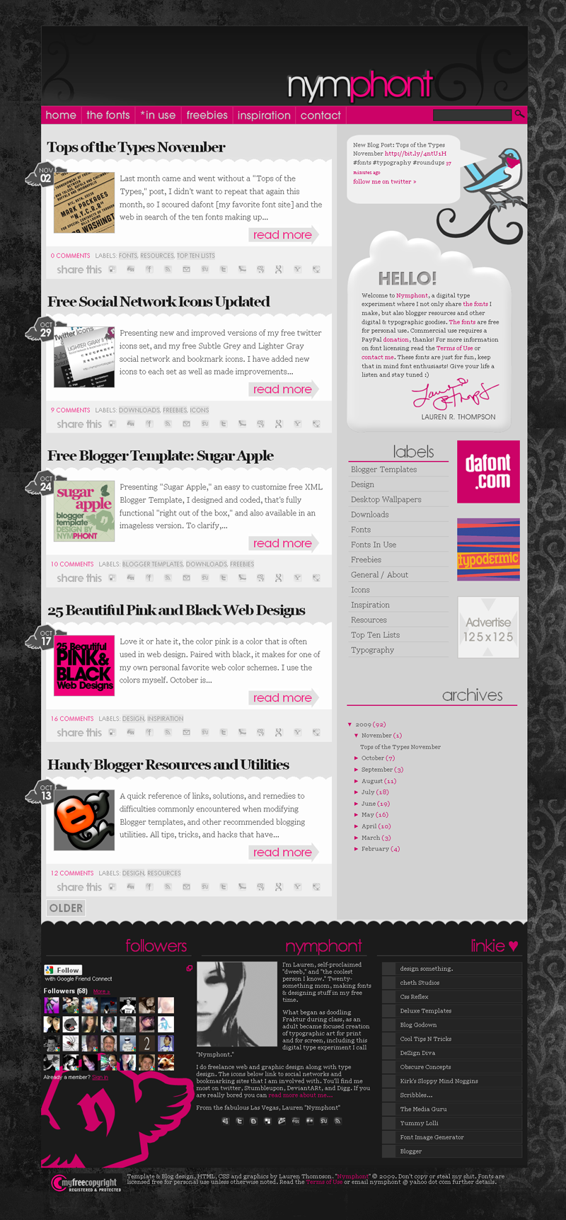 Nymphont Blog Design by nymphont