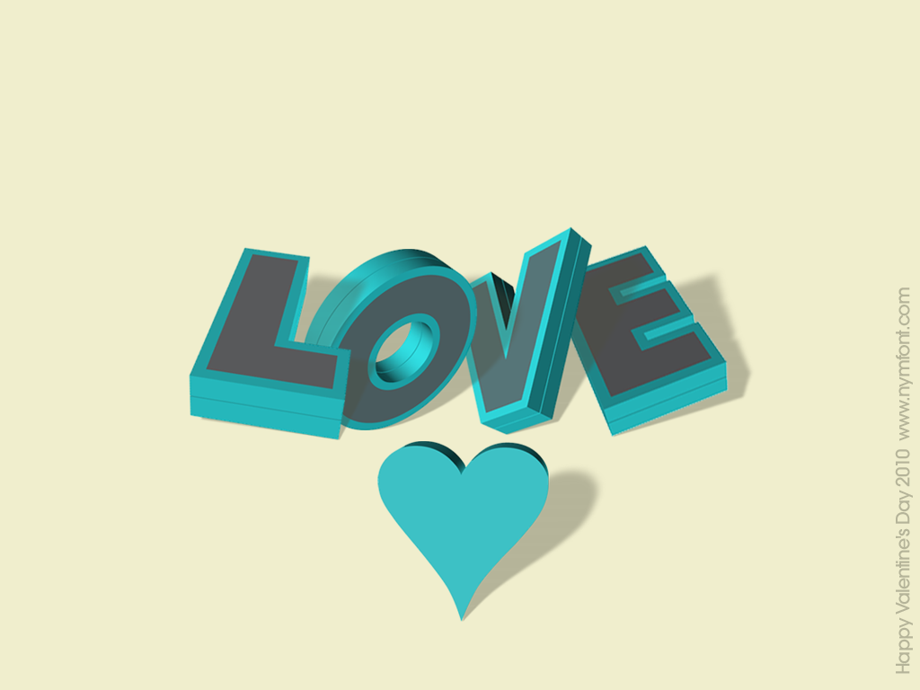 Love 3d Typography Wallpaper by nymphont