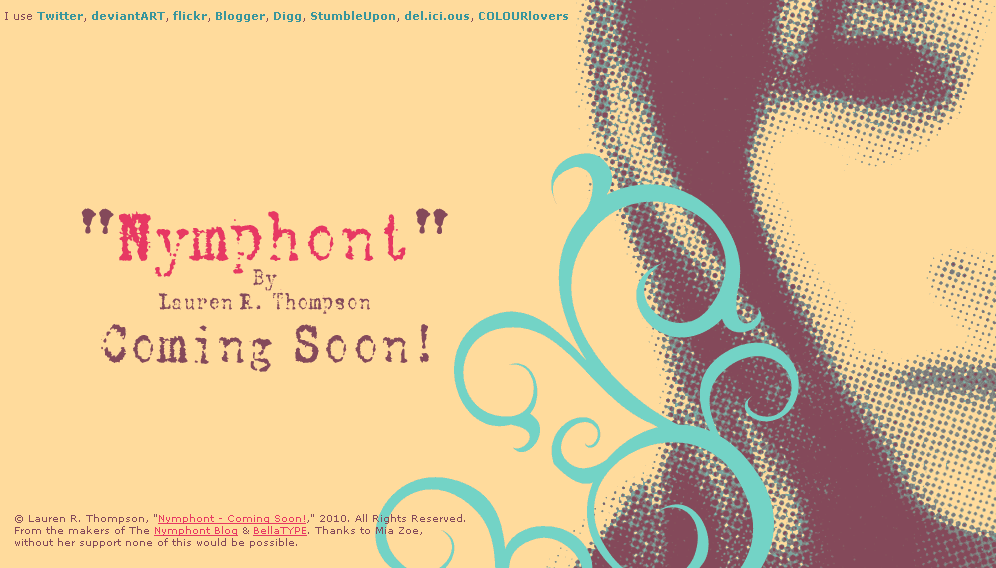 """Nymphont"" Coming Soon Page by nymphont"