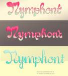 'Bubble Script' Nymphont Logo