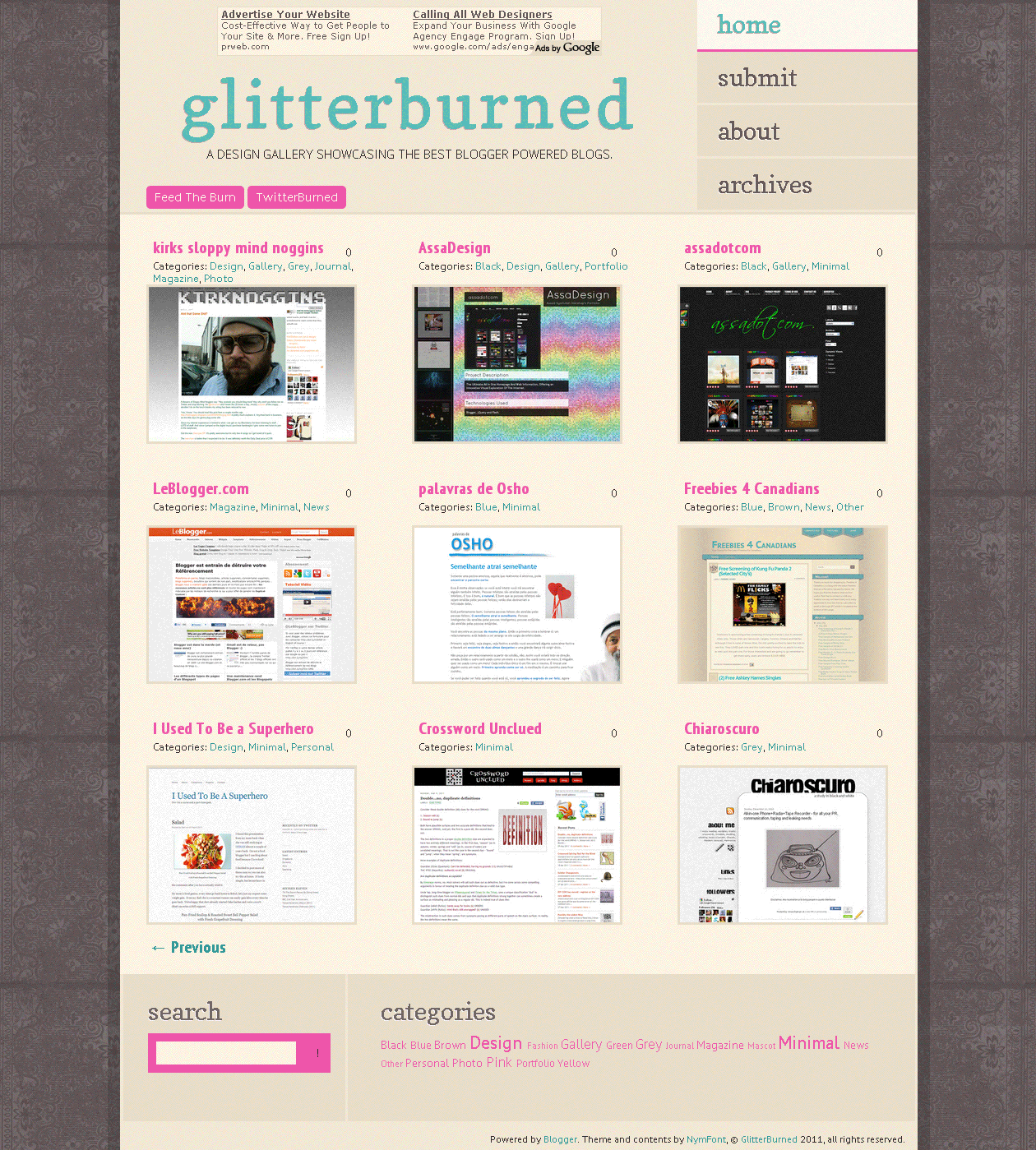 GlitterBurned Blogger Gallery by nymphont