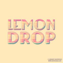 Lemondrop Typographic by nymphont
