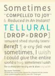 Tellural Font Poster - Type Specimen