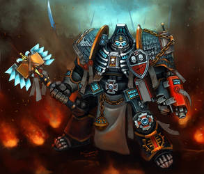 Grey Knight Chaplain by Khantian