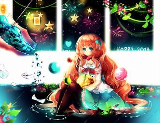 Happy 2014!! by Maruuki